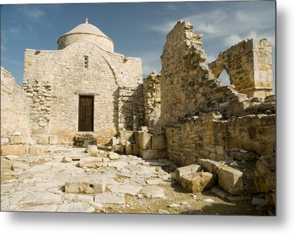 Old Church Anogyra  Metal Print