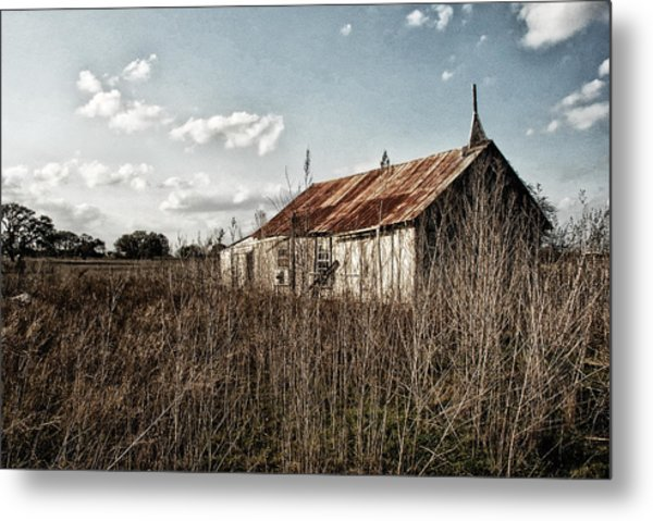 Old Church At Muldoon Metal Print