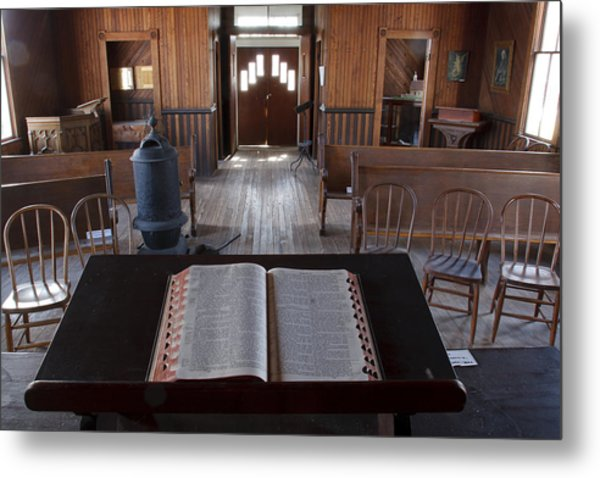 Old Church From Pulpit Metal Print