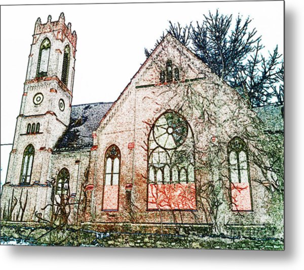 Old Church In Fresco Metal Print