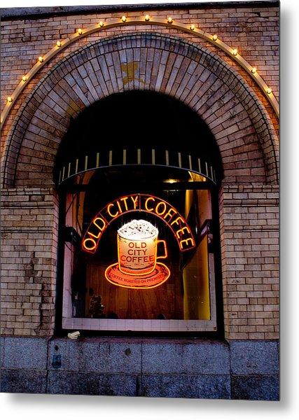 Old City Coffee Metal Print