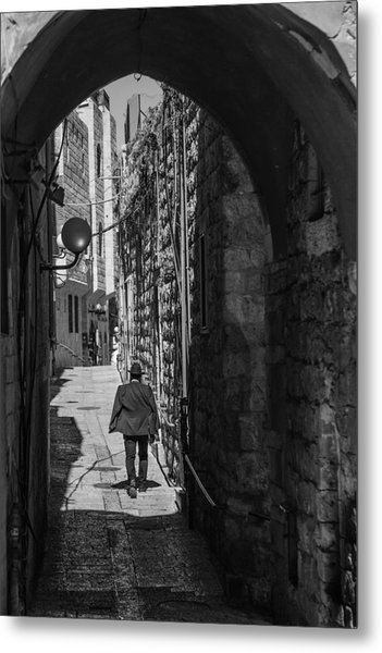 Old City Jerusalem Streets Metal Print