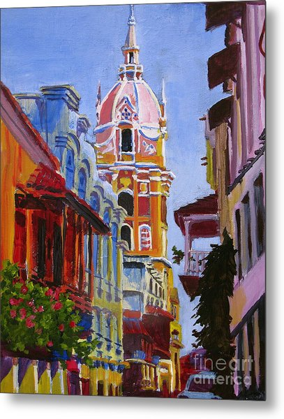 Old City Of Cartagena Colombia Metal Print