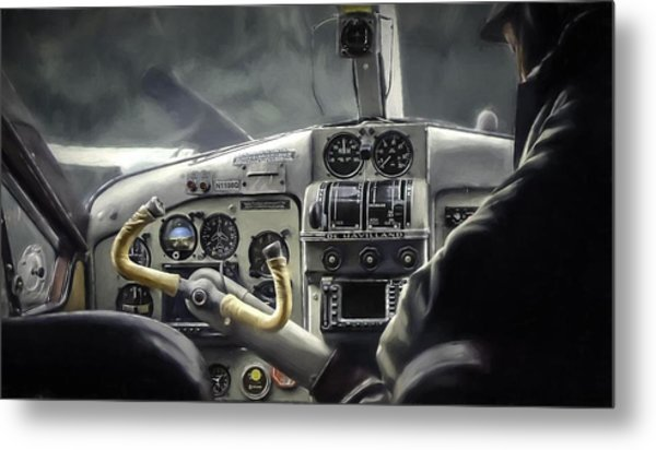 Old Cockpit Metal Print by Barb Hauxwell