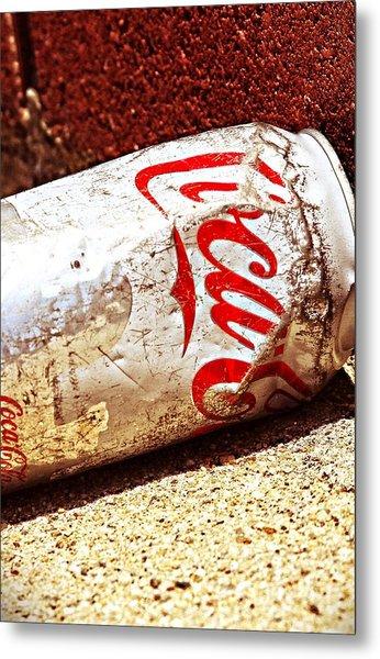 Old Coke Can Metal Print