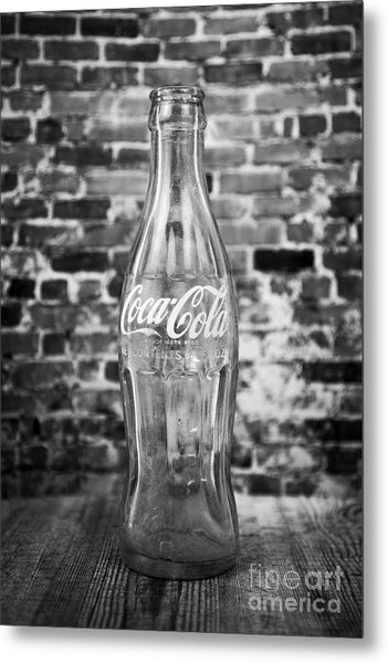 Old Cola Bottle Metal Print