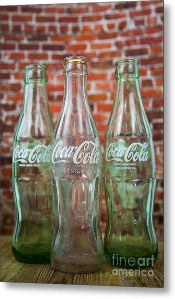 Old Cola Bottles Metal Print