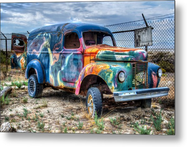Old Colored Truck Metal Print