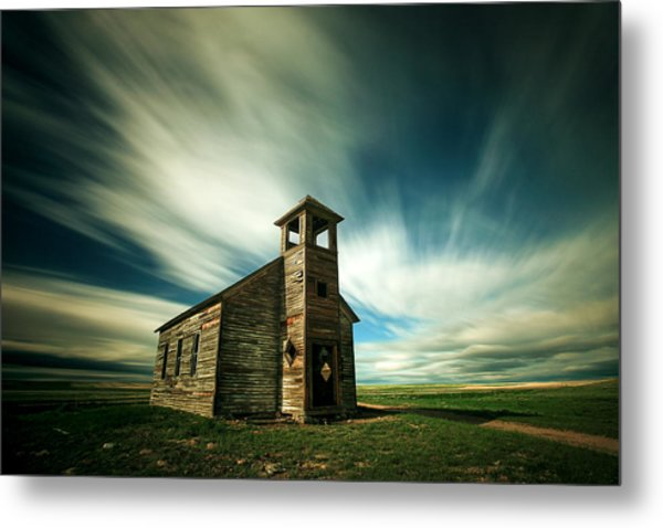 Old Cottonwood Church Metal Print