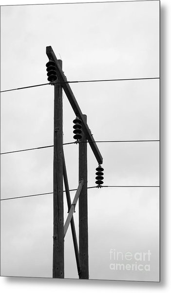 Old Country Power Line Metal Print