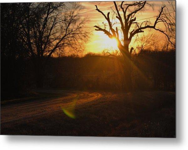 Old Country Road. Metal Print by Rachel Bazarow