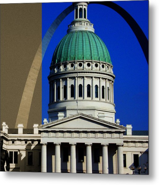 Old Courthouse Dome Arch Metal Print