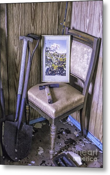 Old Croft No Further Use Metal Print by George Hodlin