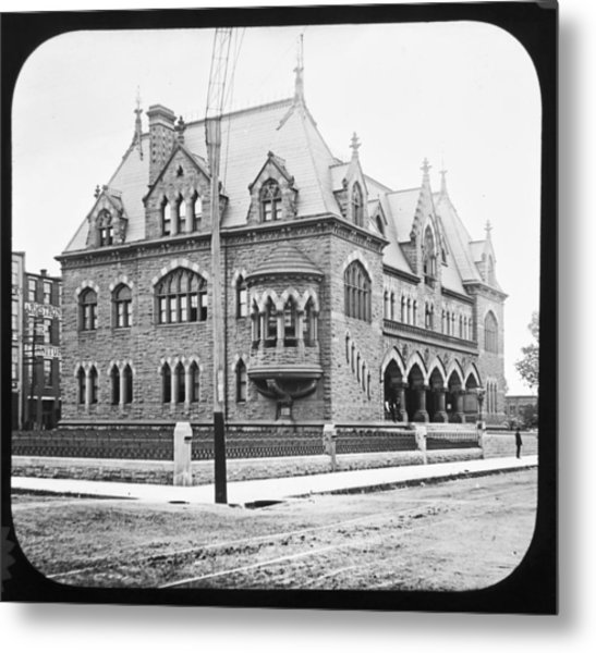 Old Customs House And Post Office Evansville Indiana 1915 Metal Print