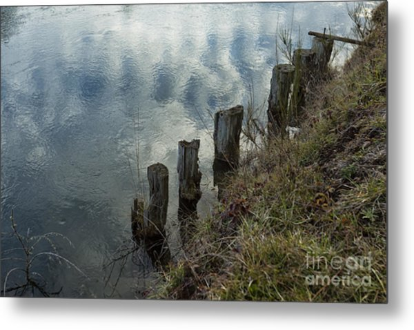 Old Dock Supports Along The Canal Bank - No 1 Metal Print