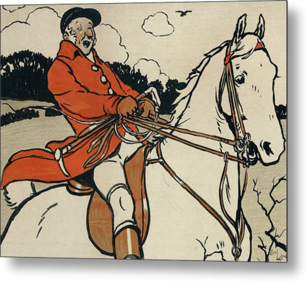 Old English Sports And Games Hunting Metal Print