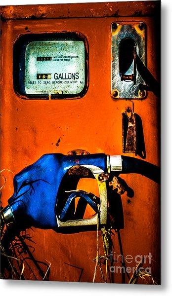 Old Farm Gas Pump Metal Print