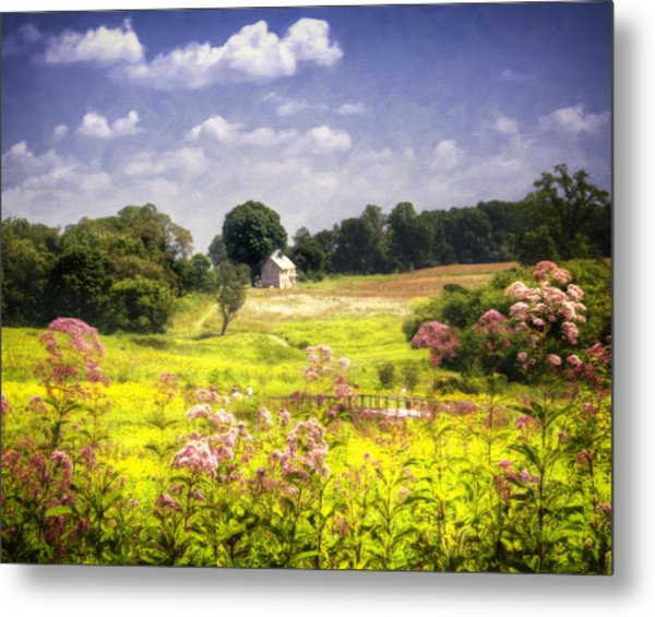 Old Farmhouse At Longwood Gardens Metal Print