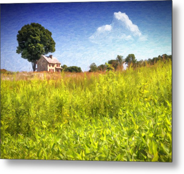 Old Farmhouse On The Hill Metal Print