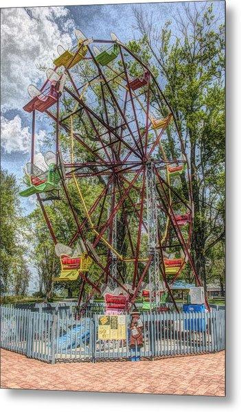 Old Fashioned Ferris Wheel Metal Print