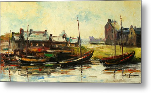 Old Fisherman's Village Metal Print