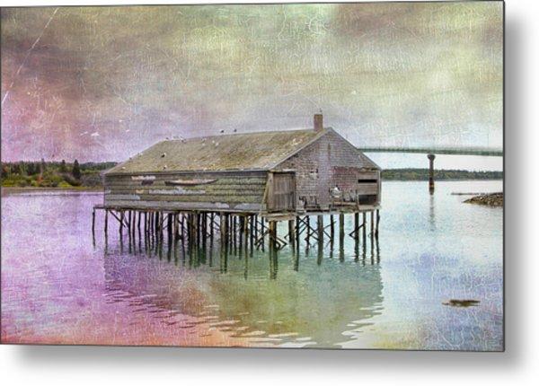 Old Fishing Pier  Metal Print