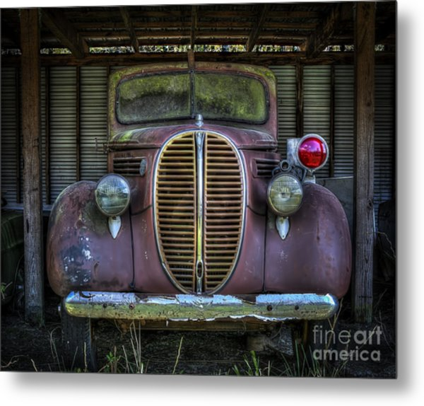Old Ford Firetruck 2 Metal Print