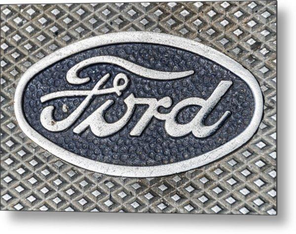 Old Ford Symbol Metal Print