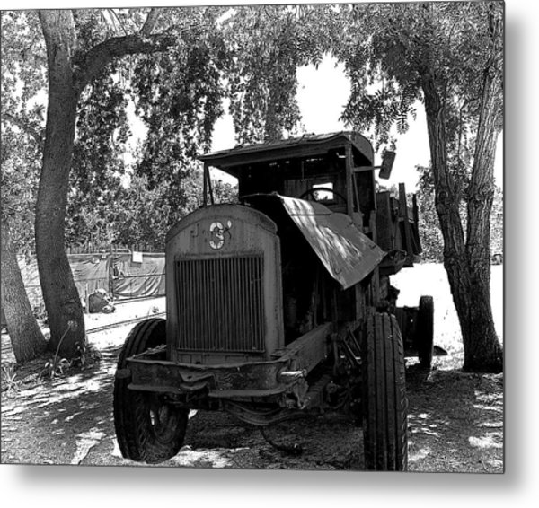 Old Ford Work Truck Metal Print