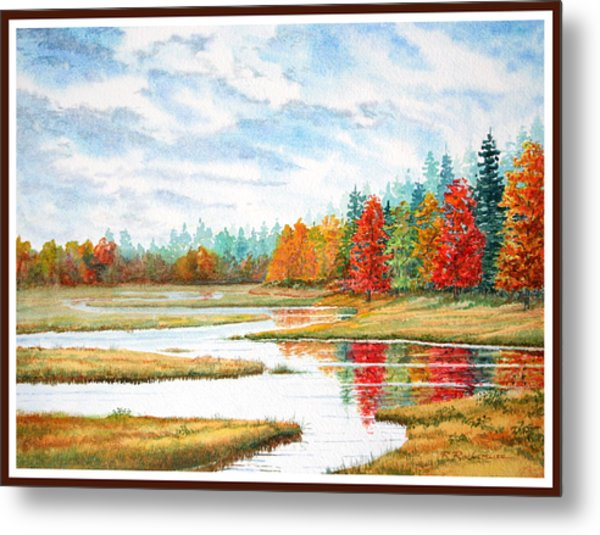 Old Forge Autumn Metal Print