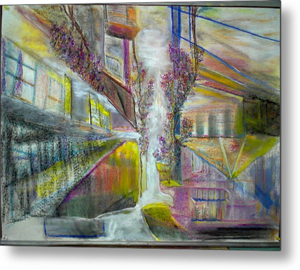 Old Friends Bougainvillaea And Balcony Metal Print
