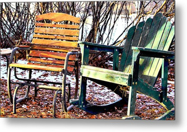 Old Friends In February Sunlight Metal Print