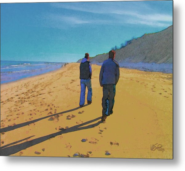 Old Friends Long Shadows Metal Print
