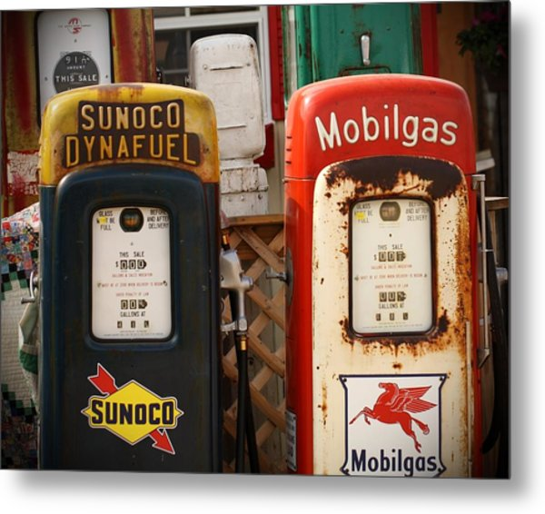 Old Fuel Pumps Metal Print