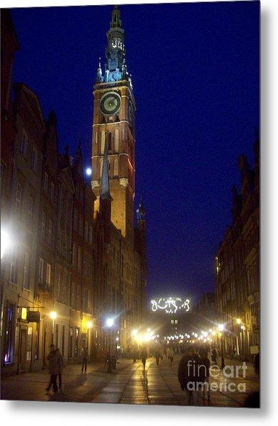 Old Gdansk November Nights Metal Print