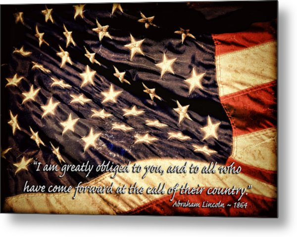 Old Glory Military Tribute Metal Print