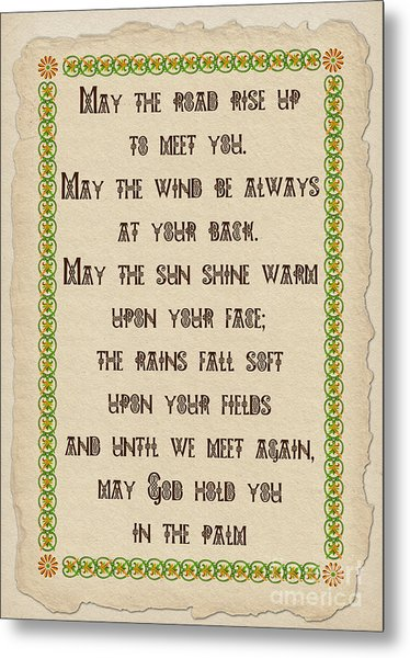 Old Irish Blessing Metal Print