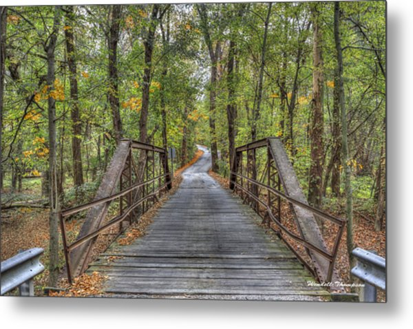 Old Iron Bridge At Panther Creek Metal Print