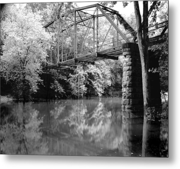 Old Iron Bridge Metal Print