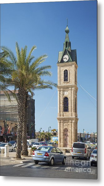 Old Jaffa Clocktower In Tel Aviv Israel Metal Print