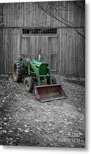 Old John Deere Tractor Metal Print
