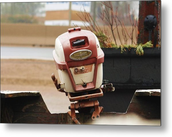 Old Johnson Outboard Metal Print by Al Fritz