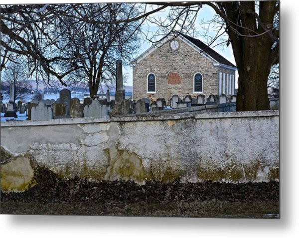 Old Leacock Presbyterian Church And Cemetery Metal Print