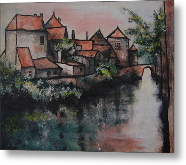 Old Little Village Metal Print