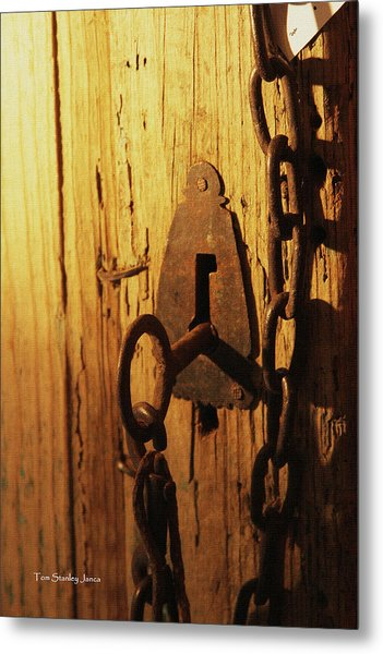 Old Lock And Key Metal Print