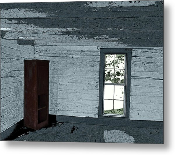 Old Log House Interior Metal Print