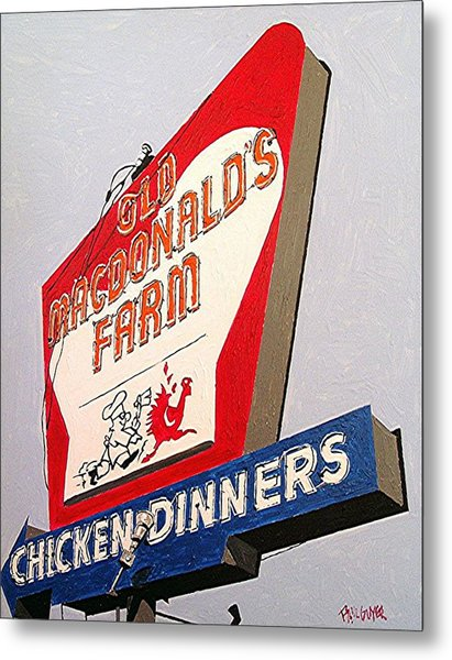 Old Macdonalds Farm Metal Print by Paul Guyer