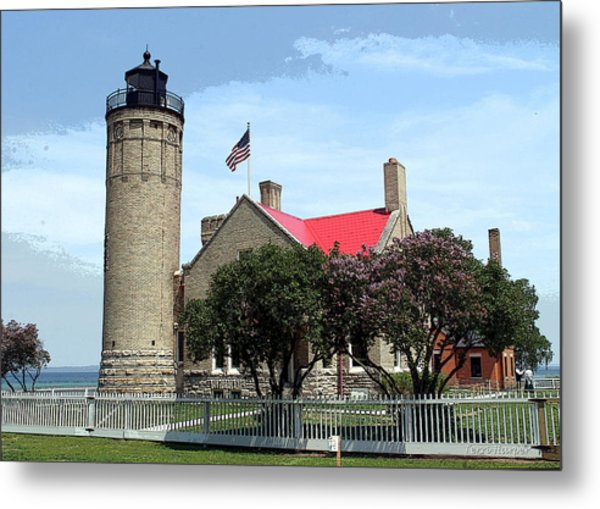 Old Mackinac Point Light Metal Print