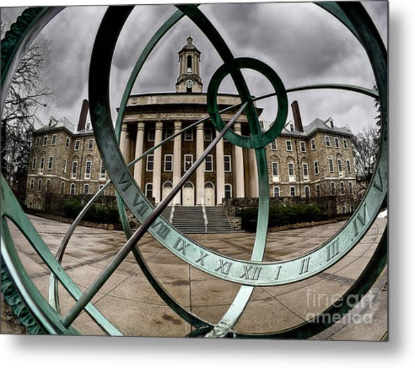 Old Main Through The Armillary Sphere Metal Print