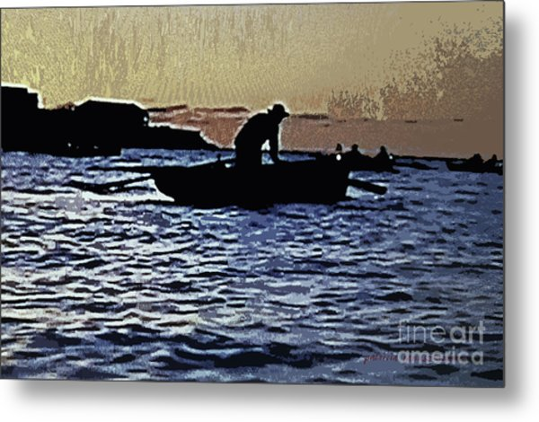 Old Man And The Sea Metal Print